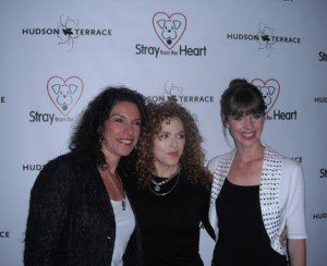 Maria Milito, Bernadette Peters and Victoria Stilwell celebrate the 10th anniversary of Stray from the Heart